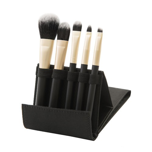 8304 5-pc make up brush set w/foldable cosmetic bag