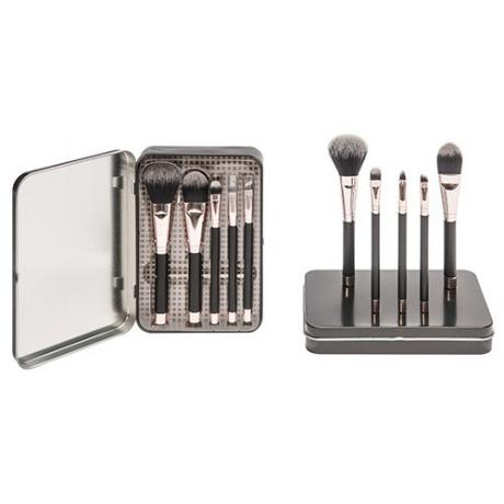 8307 5-pc make up brush set w/ metal box